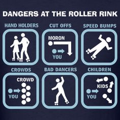 dangers at the rink. they left out 70 year old jam skater with flailing hands