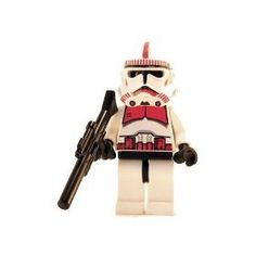 Clone Trooper (Red) - LEGO Star Wars Figure by LEGO. $15.65. Approximately 2 inches Tall. Choking Hazard for Children 3 and under. Now Retired and no longer in Production. NEW~Lego EP 3 Clone Trooper (Red) with Large Blaster Weapon Included. Item is in stock and ready to ship.