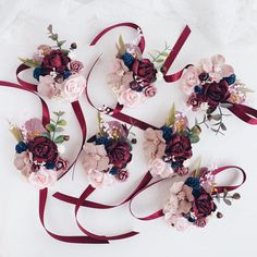 Excited to share this item from my shop: Flower wrist corsage, Burgundy Fall wrist corsage, Bridesmaids wrist corsage, Fall Winter wedding Winter Wedding Flowers, Lilac Wedding, Burgundy Wedding, Autumn Wedding, Wedding Colors, Wedding Bouquets, Diy Wedding, Wedding Venues, Navy Flowers