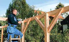 Bausatz-Carport aufbauen: Schritt 12 von 17