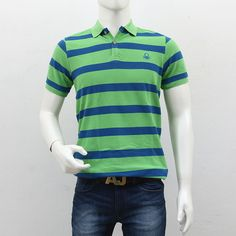 United Colors of Benetton Men Blue Green Stripes, Blue Green, Polo T Shirts, Benetton, Shopping Sites, Men's Collection, Outlets, Polo Ralph Lauren, Break Outs