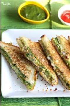 Veg Mayonnaise Sandwich recipe step by step. This sandwich recipe is a combination of taste and health. Veg Mayonnaise Sandwich Recipe recipe step by step with photos. Mint Recipes, Gourmet Recipes, Vegetarian Recipes, Snack Recipes, Cooking Recipes, Curry Recipes, Veg Recipes Video, Vegetarian Protein, Protein Recipes