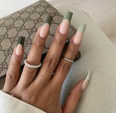 French Tip Acrylic Nails, Long Square Acrylic Nails, Bling Acrylic Nails, Best Acrylic Nails, Acrylic Nail Designs, Long French Tip Nails, Ombre French Tips, Ballerina Acrylic Nails, Long Square Nails