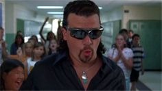 Hairy hero.... Kenny Powers. Admittedly, his character name played in the hilarious Eastbound & Down.