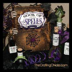DIY Halloween : DIY Spooky Book of Spells DIY Halloween Decor