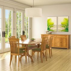 Copeland Shaker Extendable Dining Table | Solid Cherry Wood | Vermont, USA Made from Vermont Woods Studios