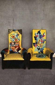 Chairs by Pierre Chareau at Maison de Verre