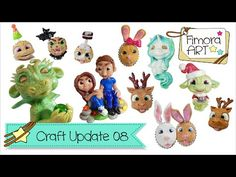 [Fimora Art] ... Craft Update Nr. 08 ... Polymer Clay Creations - YouTube