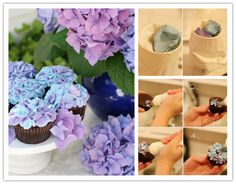 How to make DIY hydrangea floral cupcakes | DIY Tag