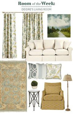 Decorating a difficult to furnish living room