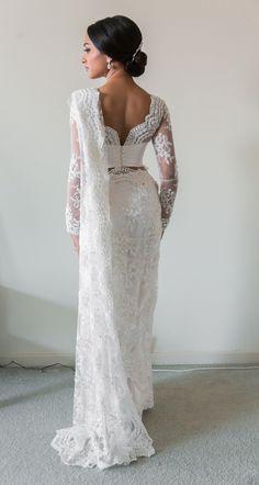 White Bridal Lace Saree | South Asian Wedding Blog | Think Shaadi