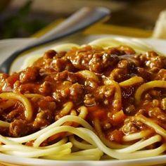 Sauce spaghetti à la mijoteuse Chicken Salad Recipes, Pasta Recipes, Tea Party Sandwiches Recipes, Slow Cooker Spaghetti Sauce, Bean And Bacon Soup, Loose Meat Sandwiches, Tofu Sandwich, Homemade Beans, Homemade Spaghetti