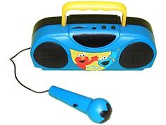 Kids' Karaoke Machines - Sesame Street Portable Radio Karaoke Kit  Featuring Elmo  Cookie Monster * Want additional info? Click on the image.