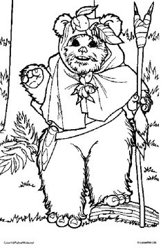 star wars coloring page ewoks | embroidery patterns | Pinterest ...