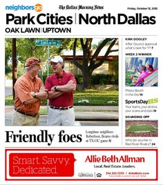 10/12: Texas or OU? Neighbors or enemies? Friends or foes? All of the above for Highland Park neighbors Malcolm Robertson and Bond Beams, who plan to attend their 50th Red River Rivalry game in 2012.
