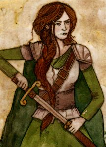 Gwenllian ferch Gruffydd (1097 – 1136), warrior princess of Wales who fought off the Norman invasion and is often compared to England's Boudicca. MORE: http://historywitch.com/2015/01/05/the-warrior-of-wales/