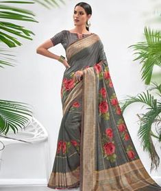 Chanderi Silk Saree Chanderi Silk Saree, Silk Sarees, Western Union Money Transfer, Long Cut, Spring Sale, Blouse Online, How To Dye Fabric, Color Shades, Festival Wear