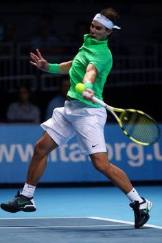 Rafael Nadal's forehand before contact. Notice the cocked wrist! #tennis
