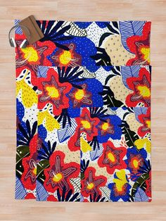 Modern exotic design of tropical flowers and colorful leaves. abstract, beach, tropical, botanic, collage, modern, exotic, floral, flower, whimsical, hand, painted, hawaii, summer, plant, hibiscus, spring, texture, decoration, interior, design, quilt, art Quilt Art, Tropical Flowers, Contemporary, Modern, Hibiscus, Whimsical, Hawaii, Exotic, Collage