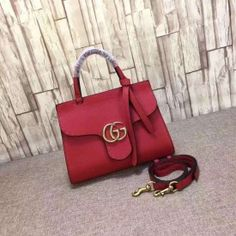 Gucci GG Marmont leather top handle mini bag red 442622