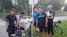 SCC group pic. Sun ride Place: Mandai shell station