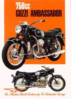 Moto Guzzi Ambassador Factory Brochure, Page 1 of 2.