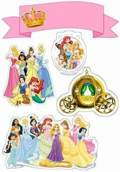 Uau! Veja o que temos para Topo de Bolo de Papel Princesas Disney