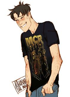 OH MY GOD. MARCO WITH A MCR SHIRT ON. MY FAVORITE CHARACTER AND MY FAVORITE BAND. YES!