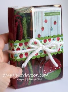 Julie's Stamping Spot -- Stampin' Up! Project Ideas Posted Daily: VIDEO Tutorial: Gift Wrap Essentials Gift Box