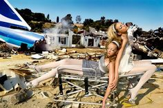 Life in pics: Editorials: Shoes portfolio - Heather Marks and Anja Rubik by David LaChapelle