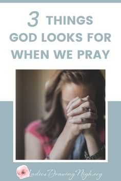 Do you pray prayers that God will hear? Our reading in James this week shows us 3 Things God Looks For When We Pray. Click through to see what they are. Prayer Scriptures, Bible Prayers, Bible Verses, Prayer Quotes, Bible Quotes, Deliverance Prayers, Mom Prayers, Bible Teachings, Faith Bible
