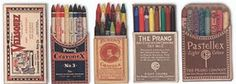 vintage colouring pencils
