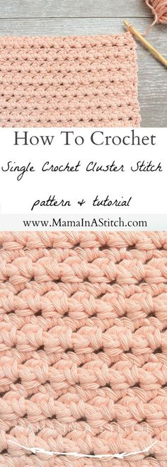 Crochet Stitches Patterns How To Crochet the Single Crochet Cluster Stitch via Such a simple pattern with a free tutorial for the gorgeous crochet cluster stitch! Crochet Unique, Crochet Simple, Beautiful Crochet, Free Crochet, Crochet Summer, Crochet Geek, Beginner Crochet, Crochet Baby, Mason Jar Crafts