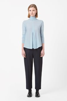 Pleated front jumper
