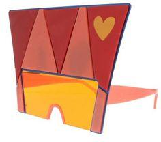 Agatha Ruiz Del La Prada - king for a Day Heart Sunglasses, Sunnies, Heart Shapes, Eyewear, Prada, Creations, King, Retro, Box