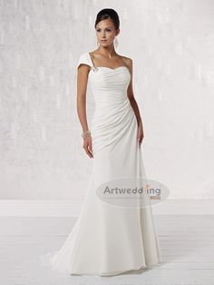 Google Image Result for http://cloud.artwedding.com/media/catalog/product/cache/1/image/d6c745f11bc642c40cf2d45c2c0d0106/wedding/R/Ruched-One-Shoulder-Strap-Chiffon-Sheath-Wedding-Dress.jpg