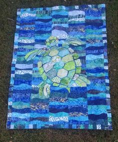 Looking for your next project? You're going to love Large Sea Turtle template for Applique by designer Ktbmomma.