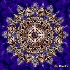 Saturday night's #relaxation includes this #bronze #brass and #purple #mandala #recolor #coloring #meditation #spiritual