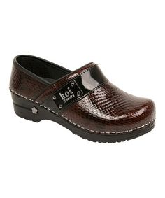 Take a look at this Espresso Snakeskin Lindsey Original Professional Clog - Women by Sanita on #zulily today!