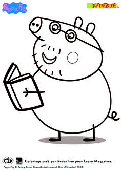 peppa pig tourist coloring page printable coloring pages crafts