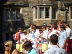 fraternity men. bid day. august. love it. If I didn't know any better, I'd say that's at Sewanee!