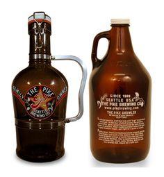 The Pike beer growlers