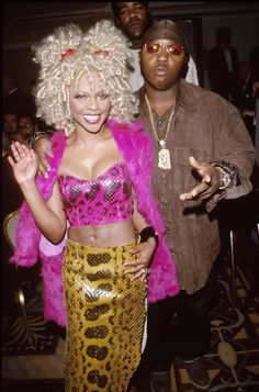 L'il Kim and L'il Cease - Vogue article - Bad Boy Records, Represent! How Puff's Label Is Still Ruling Fall Fashion. 80s And 90s Fashion, Hip Hop Fashion, Fashion Outfits, Fashion Fashion, Womens Fashion, Fashion Ideas, Fall Fashion 2016, Autumn Fashion, Fashion Black
