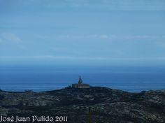 Vista del faro de Finisterre en La Coruña. View of Finisterre.