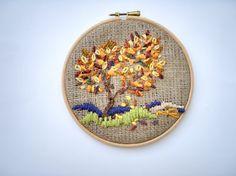Four seasons Embroidery Hoop wall art Hoop Art by nerina52 on Etsy