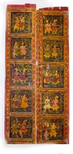 Hand Painted Old Indian Doors