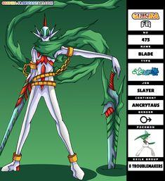 GFR 475 - Blade by Gijinka-FR.deviantart.com on @deviantART Cool Pokemon, Pokemon Fan, Pokemon Stuff, Hunter Pokemon, Pokemon Human Form, Satoshi Tajiri, Character Art, Character Design, Cool Swords