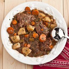 Tender Beef Pot Roast.  Fork-tender, savory, succulent, comfort food.  In a Crock Pot.