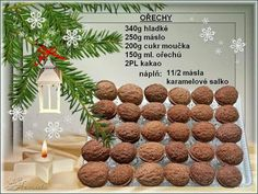 Christmas Candy, Christmas Baking, Christmas Cookies, Xmas, Vegetarian Recipes, Cooking Recipes, Czech Recipes, Sweet Tooth, Diy And Crafts