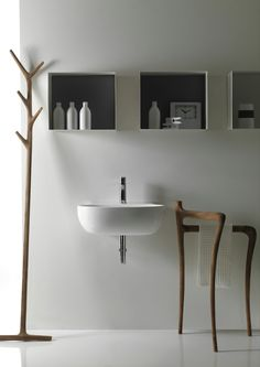 STANDING SOLID WOOD TOWEL RACK ERGO COLLECTION BY GALASSIA | DESIGN ANTONIO PASCALE